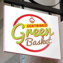 Food logo design for Green Basket Logo