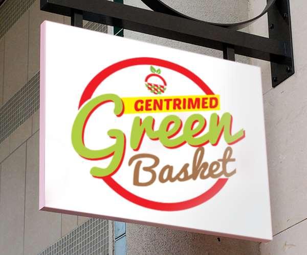 Food logo design for Green Basket