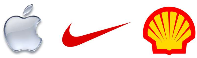 Simple yet effective logo design of Apple Nike Shell