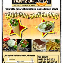 Thatz A Wrap Flyer