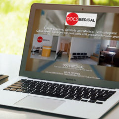 Single-Page Website Design for DOCS Medical Space