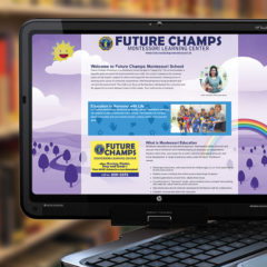 One-Page School Website design for Future Champs Montessori