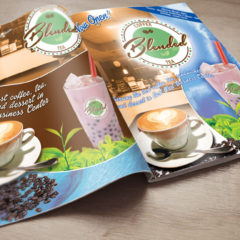 Blended Magazine Ad Layout
