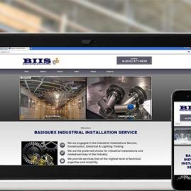 Web design for Basiquex Industrial Installation Service