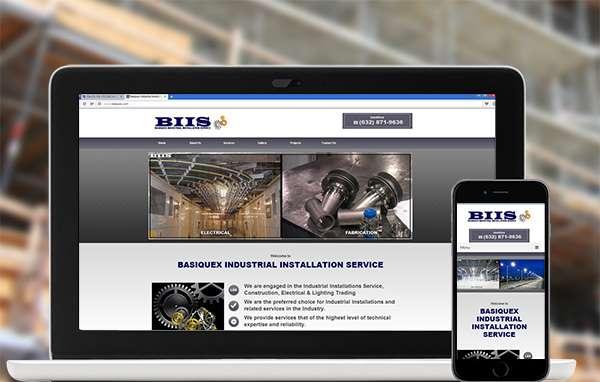 construction company website design for Basiquex