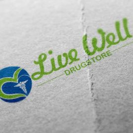 Drugstore logo design for Live Well