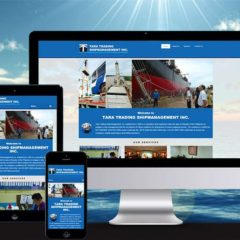 Shipping Company Website Design for Tara Trading